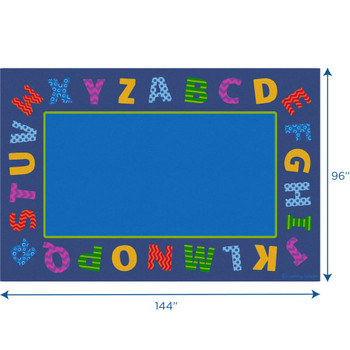 Boarder Alphabet Scramble - Rectangle Large Rug