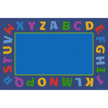 Boarder Alphabet Scramble - Rectangle Large Rug 1