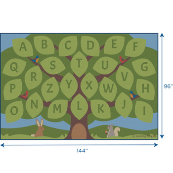Alphabet Seating Tree - Rectangle Large Rug