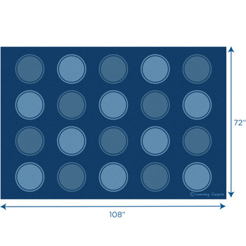 Seating Dots Blues - Rectangle Small Rug