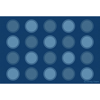 Seating Dots Blues - Rectangle Small Rug, CPR3041