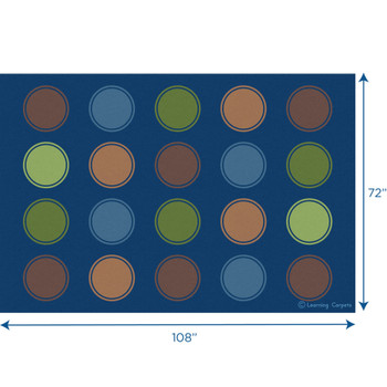 Seating Dots Woodtones - Rectangle Small Rug