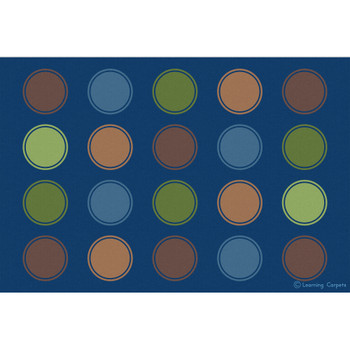 Seating Dots Woodtones - Rectangle Small Rug 1