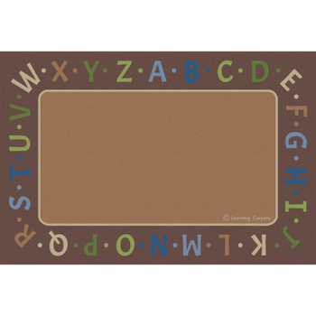 Alphabet Border Woodtones - Rectangle Small Rug 1