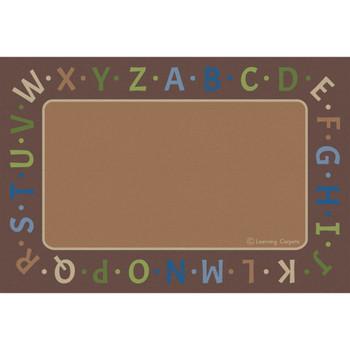 Alphabet Border Woodtones - Rectangle Large Rug, CPR3054
