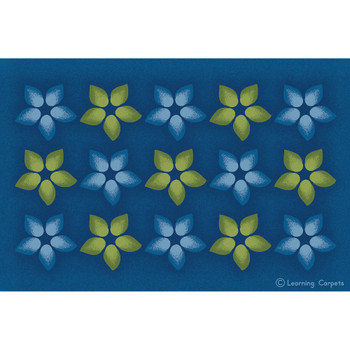 Flower Seating - Rectangle Small Rug 1