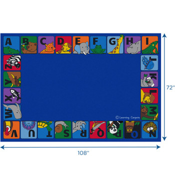 Alphabet Animals Border - Rectangle Small Rug 1