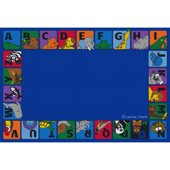 Alphabet Animals Border - Rectangle Large Rug