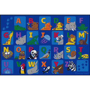Alphabet Animals - Rectangle Small Rug