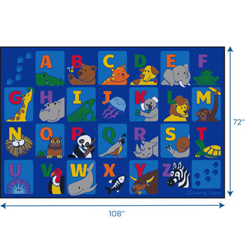 Alphabet Animals - Rectangle Small Rug 1