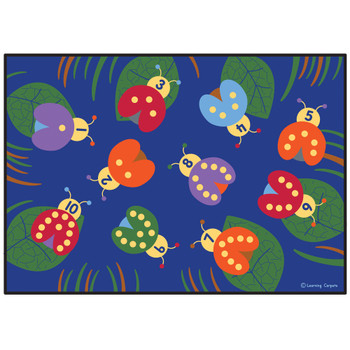 Counting with Lady Bugs - Rectangle Large Rug 1