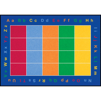 ABC Squares - Rectangle Large Rug 2