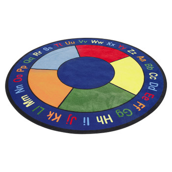 ABC Squares - Round Small Rug 1