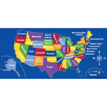 US Map - Rectangle Large Rug 1