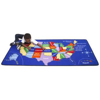 US Map - Rectangle Large Rug