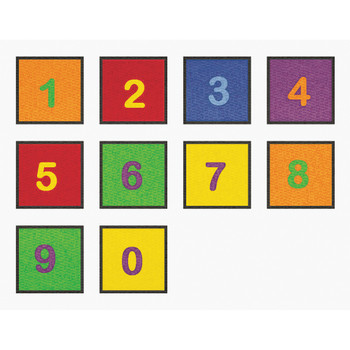 Numbers 0-9 - Set of 10 Squares 2