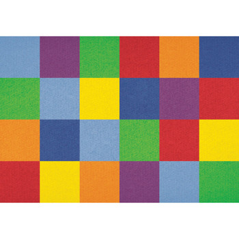 Colorful Grid - Rectangle Large Rug 1