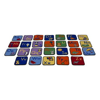 Alphabet Seating Squares with Images - Set of 26