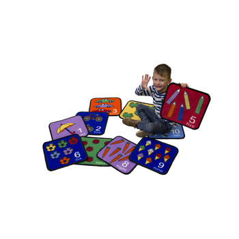 Let's Learn How to Count Seating Squares - Set of 10 1