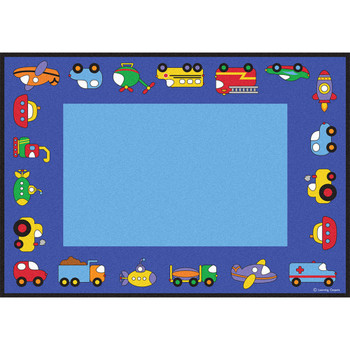 Vehicles Rectangle Large Rug