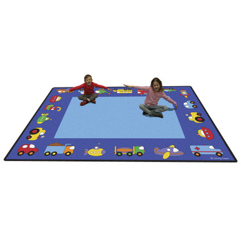 Vehicles Rectangle Large Rug 1
