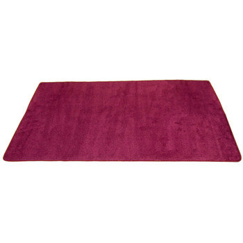 Cranberry Solid - Rectangle Large Rug 1