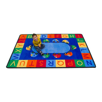 Cars Alphabet & Numbers - Rectangle Small Rug