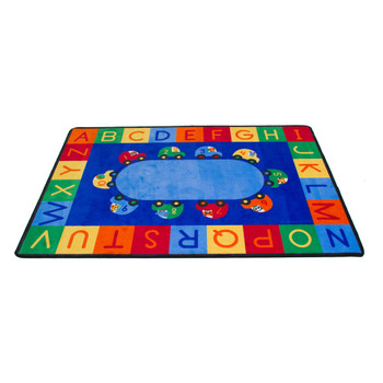 Cars Alphabet & Numbers - Rectangle Small Rug 1