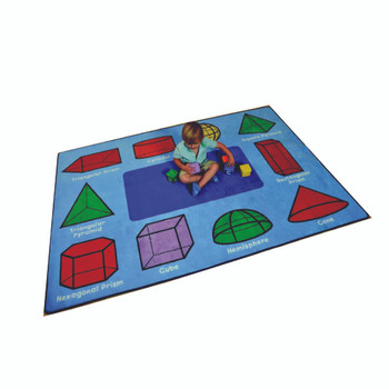 3D Geometric Shapes Rug - Rectangle Small Rug 1