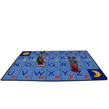 Upper and Lower ABC's - Rectangle Large Rug
