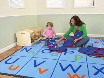 Upper and Lower ABC's - Rectangle Large Rug 1
