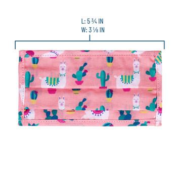 Unicorn, Butterfly Garden & Pink Llamas Kids Face Masks 1