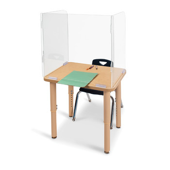 "See-Thru Student Desktop Shield - 23.5"" High"
