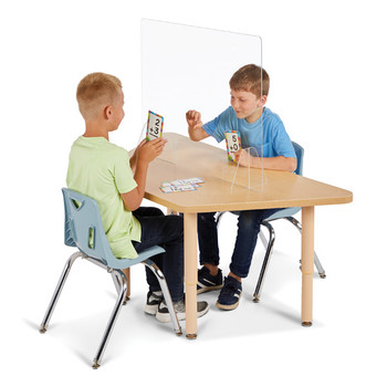 "Jonti-Craft® See-Thru Table Divider Shields - 2 Station with Opening - 23.5"" x 8"" x 23.5"""