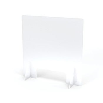 "Jonti-Craft® See-Thru Table Divider Shields - 2 Station with Opening - 23.5"" x 8"" x 23.5"" 1"
