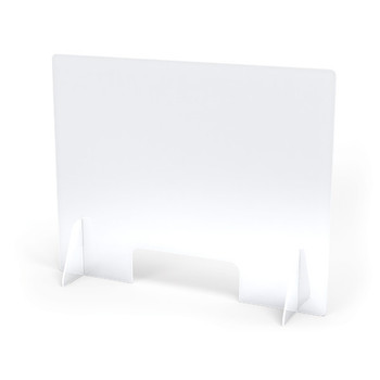 "See-Thru Table Divider Shields - 2 Station with Opening - 30"" x 8"" x 23.5"""