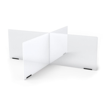See-Thru Table Divider Shields - 4 Station