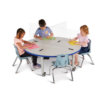 See-Thru Table Divider Shields - 4 Station 4