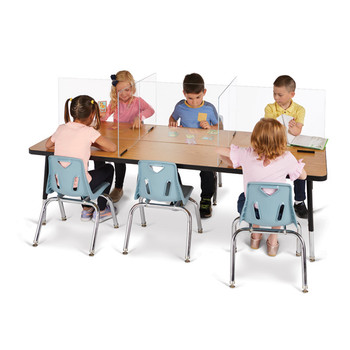 See-Thru Table Divider Shields - 6 Station
