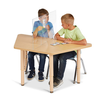See-Thru Table Divider Shields - Center Divider 1