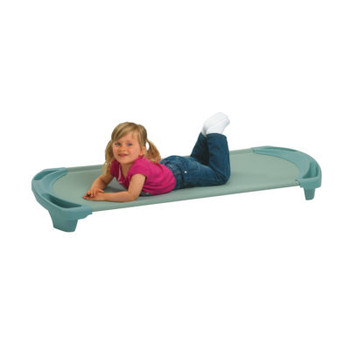 SpaceLine® Standard Single Cot - Teal Green