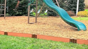 Classic Sienna Straight Playground Border