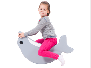 Rocking Dolphin Seat with girl