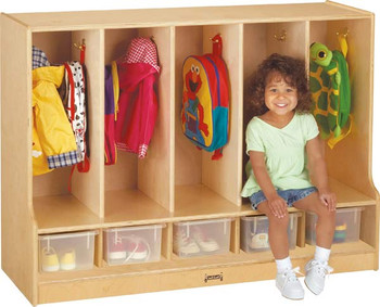 Jonti-Craft Toddler Coat Locker with Step 1