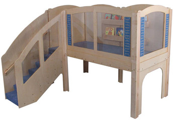 Mainstream Older Toddler Explorer 2 Wave Loft, steps on Left
