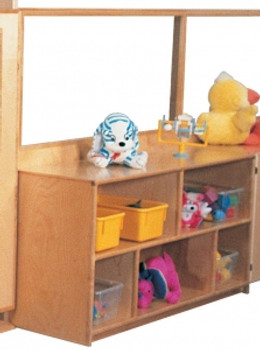 Deluxe Divider with 24''h Storage & Divided Shelves, 48''w 1