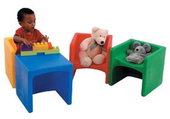 Children's Factory Chair Cubed - 4 Colors 1
