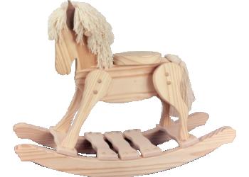 Unfinished Wooden Rocking Horse 2