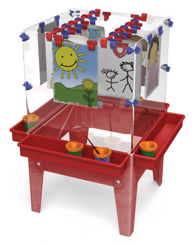 "Childbrite Toddler 4 Station Space Saver Easel - 18"" Tall"