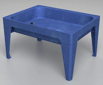 18 in. All-In-One Sand and Water Activity Center Blue